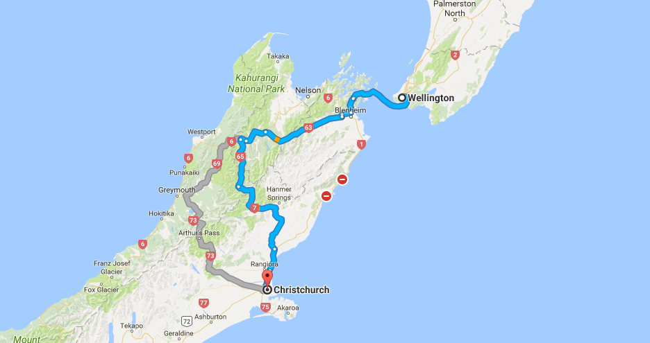 wellington to christchurch road trip 2017